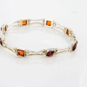 Italian Made Elegant Baltic Amber Elegant Bracelet in 925 Sterling Silver BR146 RRRP£130!!!