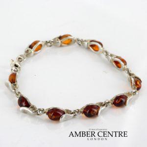 Handmade Elegant German Baltic Amber Bracelet In 925 Sterling Silver BR176 RRP£120!!!