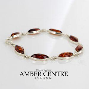 Italian Made German Baltic Amber Elegant Bracelet in 925 Sterling Silver BR185 RRP£85!!!