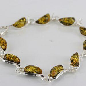 Italian Style German Baltic Amber Elegant Bracelet 925 Silver BR187G RRP£110!!!