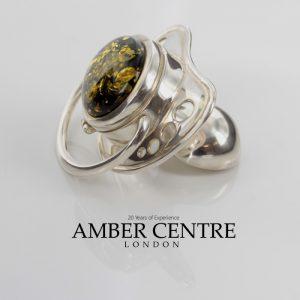 German Mother's Treasure Box/Dummy 925 Silver Baltic Amber CAR0115 RRP£395!!!
