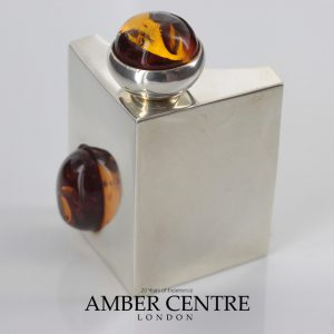 Italian Made Perfume Bottle German Baltic Amber in 925 Silver CAR0116 RRP£595!!!