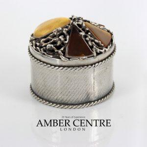 German Treasure Box German Baltic Amber Pieces in 925 Silver CAR0120 RRP£495!!!