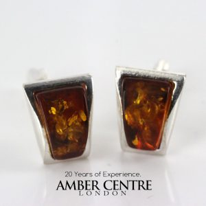Italian Made Cufflinks With German Baltic Amber In 925 Sterling Silver CF001 RRP£90!!!