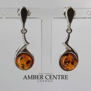 Drop Earrings Italian Style German Baltic Amber 925 Silver E0067 RRP£40!!