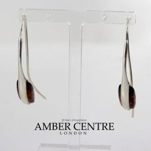 Earrings Baltic German Amber Italian Style 925 Silver Elegant E0068 RRP£50!!!