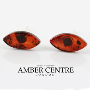 Italian Style German Dark Cognac Baltic Classic Amber Studs ST0121 RRP£16!!! SPECIAL OFFER!!