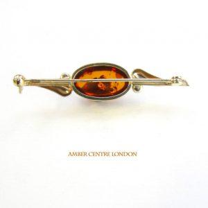 Italian Handmade Elegant German Baltic Amber Brooch in 9ct Gold GB0009 RRP£425!!!