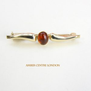 Italian Handmade Elegant German Baltic Amber Brooch in 9ct Gold GB0011 RRP£275!!!