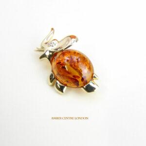 Italian Handmade Elegant German Baltic Amber Brooch in 9ct Gold GB0016 RRP£795!!!