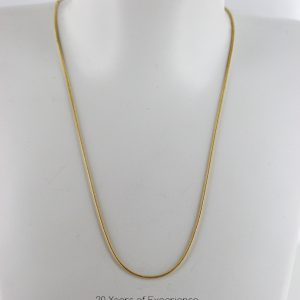 Italian Made Classic Snake Chain 9ct solid Gold 16 Inch 1.0 mm - GCH015 RRP £295!!!