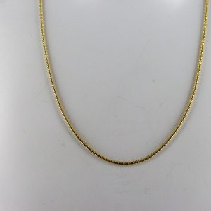 Italian Made Real Classic Snake Chain 14ct solid Gold 16 Inch 1.2mm-GCH003 RRP £395!!