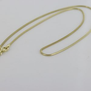 """Classic Italian Made Real Snake 9ct solid Gold Chain-16""""-1.2mm - GCH005 RRP£325!!!"""