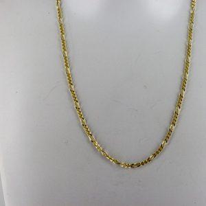 Italian Made Elegant Figaro Chain 9ct Gold 16 Inch /41 cm- GCH007 RRP£250!!!