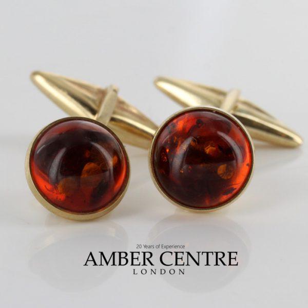 Italian Handmade Cufflinks German Baltic Amber In Solid 9ct solid Gold GF002 RRP£395!!!