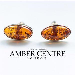 Italian Handmade German Baltic Amber Cufflinks In Solid 9ct Gold GF0035 RRP£575!!!