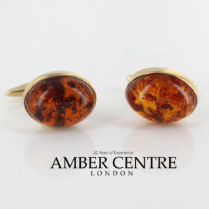 Italian Handmade Cufflinks German Baltic Amber In Solid 9ct solid Gold GF004 RRP£495!!!