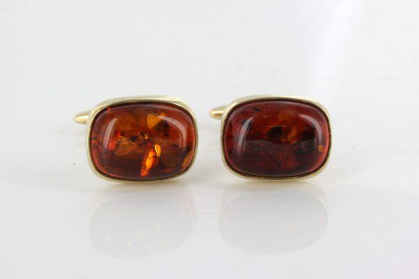 Italian Handmade German Baltic Amber Cufflinks In Solid 9ct Gold GF009 RRP£575!!!