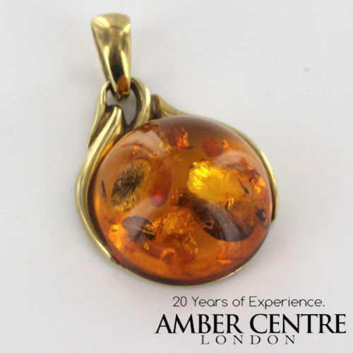 Italian Hand Made Elegant Baltic German Amber Pendant in 14ct solid Gold - GP0372 RRP£600!!!