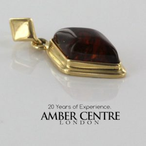 Italian Hand Made Elegant Unique German Baltic Amber Pendant in 14ct Gold - GP0408 RRP£275!!!