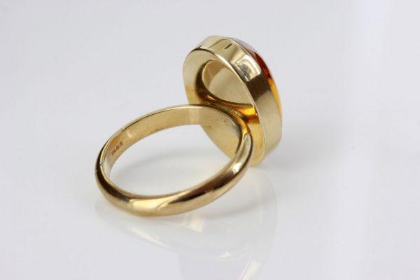 German Baltic Amber Handmade 9ct Ring Containing Biting Midge GRR010 RRP£450!!!