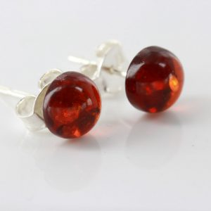 Italian Style German Classic Baltic Amber Stud Earrings ST0122 RRP£12!!!