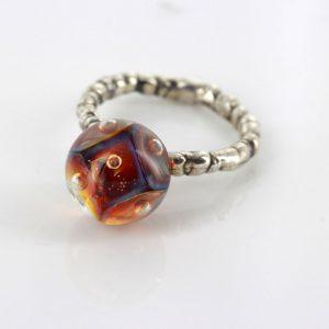 Trollbeads Genuine Ring 925S LAA Silver Eye of Aphrodite R6105 RRP£80!!!