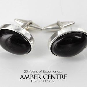 Italian Made Cufflinks 925 Silver German Cherry Baltic Amber CF015 RRP£139!!!