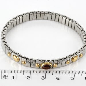 """NOMINATION ITALIAN """"LOVE"""" ELASTICATED BRACELET WITH BALTIC AMBER in 18ct GOLD BAN132 RRP£245!!!"""