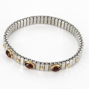 NOMINATION ITALIAN ELASTICATED BRACELET WITH BALTIC AMBER in 18ct GOLD BAN131 RRP£245!!!