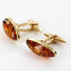 Italian Made German Baltic Amber Cufflinks In Solid 9ct Gold GF0020 RRP£675!!!