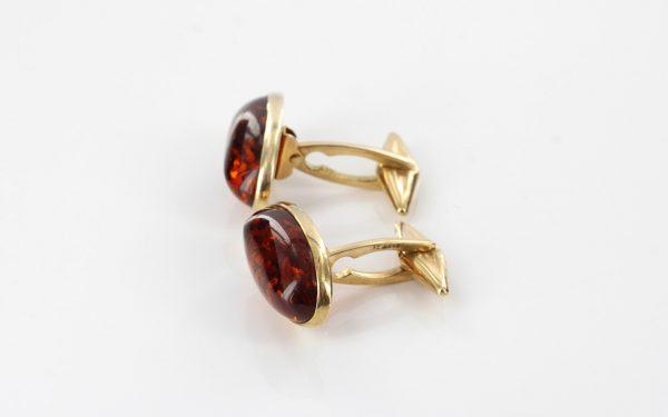 Italian Handmade German Baltic Amber Cufflinks In Solid 9ct Gold GF0016 RRP£595!!!