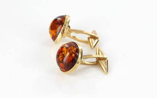 Italian Made German Baltic Amber Cufflinks In Solid 9ct Gold GF0014 RRP£495!!!