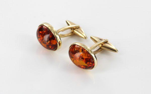 Italian Made German Baltic Amber Cufflinks In Solid 9ct Gold GF005 RRP£525!!!