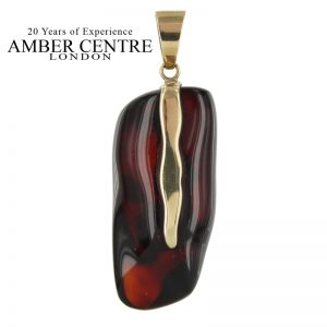 Mexican/Dominican Amber Pendant in 9ct solid Italian Gold Unique and Rare -GPM017 RRP£695!!!