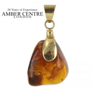 Mexican/Dominican Amber Pendant in 14ct Gold Unique and Rare - GPM015 RRP£625!!!