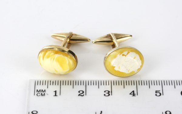 Italian Handmade Butterscotch German Baltic Amber Cufflinks 9ct solid Gold GF0029 RRP£525!!!