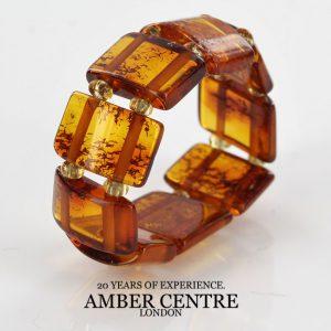 Dark Fiery Orange German Baltic Amber Handmade Elastic Ring RB042 RRP£35!!!