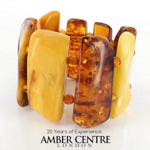 German Baltic Amber Healing Handmade Bracelet Genuine Amber W131 RRP£1095!!!