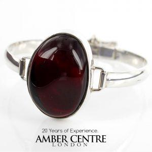 Italian Bangle Elegant Cherry German Baltic Amber 925 solid Sterling Silver Handmade Ban114 RRP£295!!!
