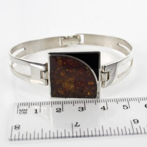 German Bangle Elegant Modern Handmade Baltic Amber 925 solid Silver Ban117 RRP£295!!!