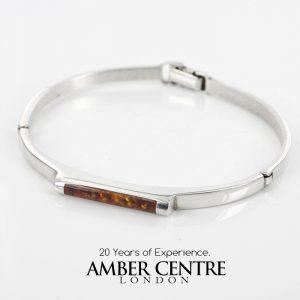 Italian Bangle Handmade Modern German Baltic Amber 925 solid Silver Ban122- RRP£249!!!