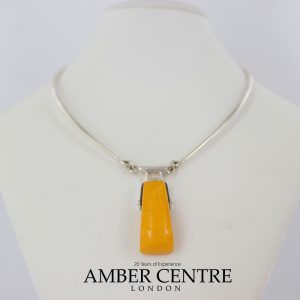 Antique German Baltic Amber Modern Handmade Collar Necklace In 925 Silver N133 RRP£1225!!