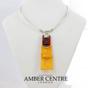 German Handmade Antique Butterscotch Baltic Amber Necklace 925 Silver N134 RRP£1750!!!