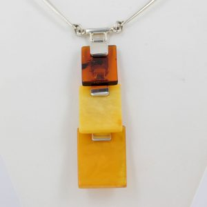 German Handmade Antique Baltic Amber Necklace 925 Silver N138 RRP£1700!!!