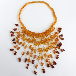 German Healing Handmade Unique Natural Baltic Amber Necklace A0082- RRP£245!!!