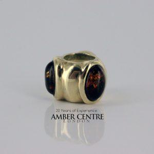 Italian Made Pandora Inspired 9ct Gold Baltic Amber Charm - RJGP5 RRP£375!!!