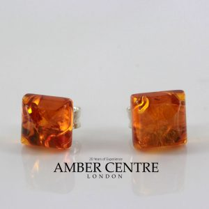 Italian Style German Baltic Square Amber Studs ST0120 RRP£16!!! SPECIAL OFFER!!