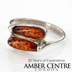 ITALIAN MADE GERMAN BALTIC AMBER RING 925 STERLING SILVER - SR005 RRP£30!!!