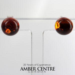 Elegant and Simple German Baltic Amber Stud Earrings 925 Silver ST0046 RRP£12!!!